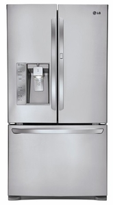 LFXS29766S LG 29 cu. ft. Ultra Capacity 3-Door French Door Refrigerator with Door-In-Door - Stainless Steel