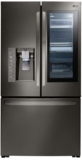 """LFXS30796D LG 36"""" 29.6 cu. ft. Capacity French Door Refrigerator with InstaView Window and SpillProof Glass Shelving - Black Stainless Steel"""