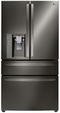 LG French Door Refrigerators - Black Stainless Steel