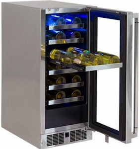 """LM15WINER Lynx 15"""" Right Hinge Outdoor Wine Cellar - Stainless Steel"""