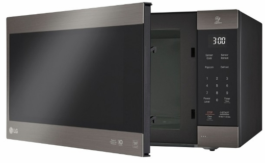 "LMC2075BD LG 24"" NeoChef Countertop Microwave Oven with SmoothTouch Glass Touch Controls and EasyClean Interior - Black Stainless Steel"
