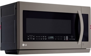 LMHM2237BD LG Black Stainless Steel Series 2.2 Cu. Ft. Over-the-Range Microwave Oven with Glass Touch - Black Stainless Steel