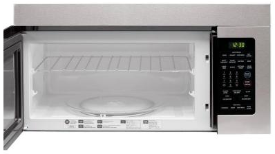 Lmv1683st Lg 1 6 Cu Ft Over The Range Microwave Oven Stainless Steel