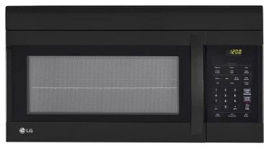 "LMV1762SB LG 30"" 1.7 cu. ft. Capacity Over-The-Range Microwave with 300 CFM Exhaust and EasyClean - Black"