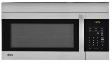 "LMV1762ST LG 30"" 1.7 cu. ft. Capacity Over-The-Range Microwave with 300 CFM Exhaust and EasyClean - Stainless Steel"