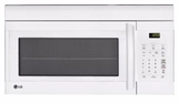 "LMV1762SW LG 30"" 1.7 cu. ft. Capacity Over-The-Range Microwave with 300 CFM Exhaust and EasyClean - White"