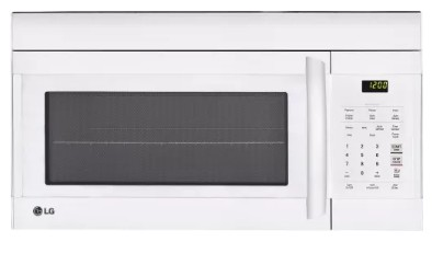 """LMV1762SW LG 30"""" 1.7 cu. ft. Capacity Over-The-Range Microwave with 300 CFM Exhaust and EasyClean - White"""