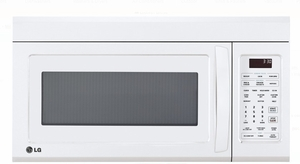 "LMV1831SW LG 30"" 1.8 cu. ft. Over-The-Range Microwave Oven - White"