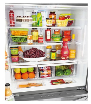 Large Capacity Counter Depth 4 Door French Door Refrigerator With  CustomChill ...
