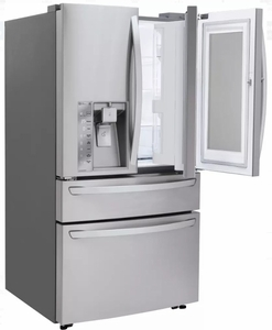"LMXC23796S LG 36"" 22.7 cu. ft. Capacity Counter Depth French Door Refrigerator with InstaView Window and ColdSaver Panel - Stainless Steel"
