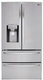 """LMXS28626S LG 36"""" 27.8 cu. ft. Capacity 4 Door French Door Refrigerator with Slim SpacePlus Ice System and SmartDiagnosis System - PrintProof Stainless Steel"""