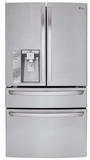 LMXS30746S LG Super Capacity 4-Door French Door Refrigerator with CustomChill Drawer - Stainless Steel