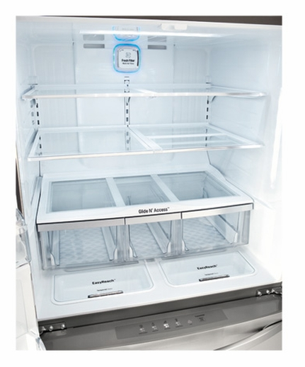 refrigerator 30 cu ft. lmxs30756s lg 30 cu. ft. super capacity 4-door french door refrigerator with customchill drawer and kimchi cu ft