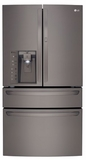 """LMXS30776D LG Black Stainless Steel Series 30 Cu Ft. 36"""" 4-Door French Door Refrigerator with CustomChill Drawer - Black Stainless Steel"""