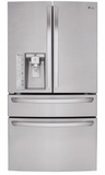 "LMXS30786S LG 36"" Super Capacity 30 cu. ft. French 4-Door Refrigerator with CustomChill Drawer - Stainless Steel"