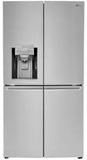 """LNXC23726S LG 36"""" 22.7 cu. ft. 4-Door French Door Counter-Depth Refrigerator with Smart Cooling Technology and Slim SpacePlus Ice System  - Stainless Steel"""