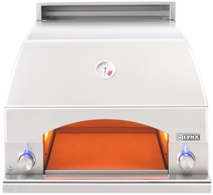 "LPZA Lynx 30"" Napoli Pizza Oven for Countertop or Built-in with 400 Square Inch Cooking Surface - Stainless Steel"