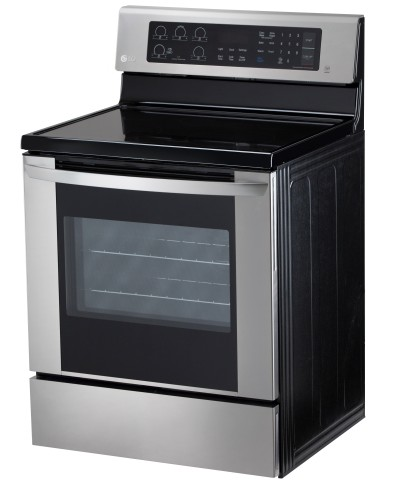"LRE3061ST LG 30"" Electric Range with 6.3 cu. ft. Single Oven and EasyClean - Stainless Steel"