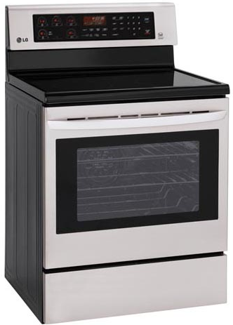 LRE3083ST LG 6.3 Cu. Ft. Capacity Electric Single Oven Range with True Convection and EasyClean - Stainless Steel