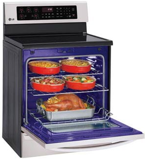 Lre3085st Lg 6 3 Cu Ft Capacity Single Oven Electric Range With Infrared Grill And Easyclean Stainless Steel