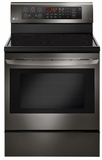 "LRE3193BD LG 30"" 6.3 cu. ft. Free Standing Electric Range with True Convection and EasyClean - Black Stainless Steel"
