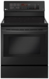 LRE3193BM LG 6.3 cu. ft. Capacity Single Oven Range with True Convection and Easy Clean  - Black Stainless Steel