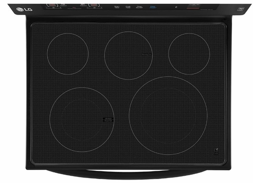 """LRE3193SB LG 30"""" 6.3 cu. ft. Free Standing Electric Range with True Convection and EasyClean - Smooth Black"""