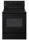 "LRE3193SB LG 30"" 6.3 cu. ft. Free Standing Electric Range with True Convection and EasyClean - Smooth Black"