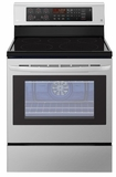"LRE3193ST LG 30"" 6.3 cu. ft. Free Standing Electric Range with True Convection and EasyClean - Stainless Steel"