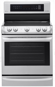 "LRE4215ST LG 30"" Electric Single Oven Range with ProBake Convection and EasyClean - Stainless Steel"