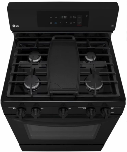 "LRG3193SB LG 30"" 5.4 Cu. Ft. Capacity Freestanding Gas Range with EasyClean Technology and EvenJet Fan Convection - Black"