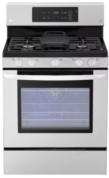 "LRG3193ST LG 30"" 5.4 Cu. Ft. Capacity Freestanding Gas Range with EasyClean Technology and EvenJet Fan Convection - Stainless Steel"