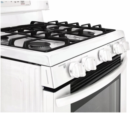 "LRG3193SW LG 30"" 5.4 Cu. Ft. Capacity Freestanding Gas Range with EasyClean Technology and EvenJet Fan Convection - White"