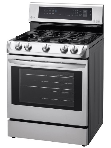 """LRG4113ST LG 6.3 Cu. Ft. Capacity 30"""" Freestanding Gas Range with ProBake Convection - Stainless Steel"""