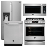 Package LS2 - LG Studio Appliances - 4 Piece Appliance Package with Gas Range - Stainless Steel