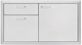 LSA424 Lynx 42 Inch Ventena Collection Storage Door and Double Drawer - Stainless Steel