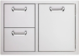 LSA530 Lynx Sedona 30 Inch Double Drawer and Access Door Combo - Stainless Steel