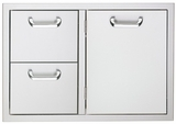 LSA636 Lynx by Sedona 36 Inch Double Drawer and Access Door Combo - Stainless Steel