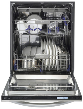 LSDF9962ST LG Studio Fully Integrated Dishwasher with TrueSteam Technology and Flexible EasyRack Plus System - Stainless Steel
