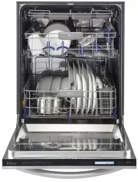"LSDF9969BD LG Studio 24"" Fully Integrated Dishwasher with 7 Wash cycles and Steam Power Cycle - Black Stainless Steel"