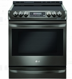 "LSE4613BD LG 30"" 6.3 cu. ft. Electric Slide-In Range with ProBake Convection and Easy Clean - Black Stainless Steel"