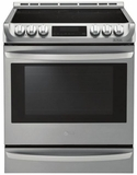 "LSE4613ST LG 30"" Electric 6.3 Cu. Ft. Slide-in Range with ProBack Convection - Stainless Steel"