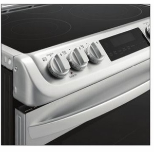"""LSE4613ST LG 30"""" Electric 6.3 Cu. Ft. Slide-in Range with ProBake Convection - Stainless Steel"""