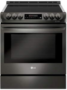 """LSE4616BD LG 30""""  Wi-Fi Enabled Slide-In Induction Range with Easy Clean and ProBake Convection - Black Stainless Steel"""