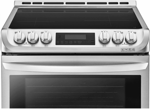"""LSE4617ST LG 30"""" Slide-In Induction Electric Range with Infrared Grill and ProBake Convection - Stainless Steel"""
