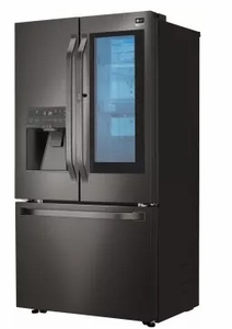 """LSFXC2496D LG Studio 36"""" 23.5 cu. ft. Capacity Counter Depth French Door Refrigerator with InstaView Window and ColdSaver Panel - Black Stainless Steel"""
