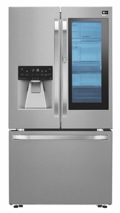 "LSFXC2496S LG Studio 36"" 23.5 cu. ft. Capacity Counter Depth French Door Refrigerator with InstaView Window and ColdSaver Panel - Stainless Steel"