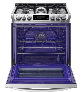 LSG4511ST LG 6.3 Cu. Ft. Capacity Slide-In Gas Range with ProBake Convection and EasyClean Technology - Stainless Steel