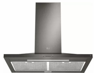 """LSHD3089BD LG Studio 30"""" Wall Mount Chimney Range Hood with 600 CFM and 5-Speed IR Touch Controls - Black Stainless Steel"""