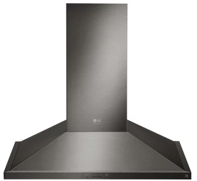 "LSHD3689BD LG 36"" Studio Series Wall Mount Chimney Range Hood with 600 CFM and 5-Speed IR Touch Controls - Black Stainless Steel"